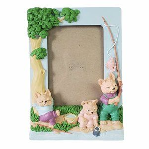 Bears Fishing and Relaxing Outside Picture Frame